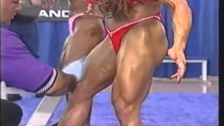 Denise Masino Gets Oiled @ 2001 Ms International Pump Room