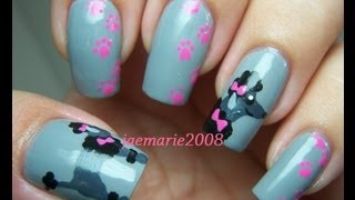 French Poodle Nail Art