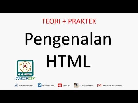 Apa Itu HTML - Pengertian HTML - Editor - Elemen - Tag - Atribut | Tutorial HTML (part 1)