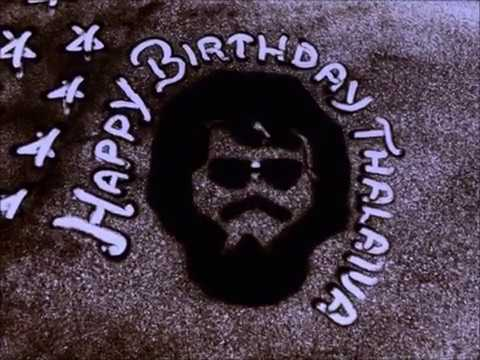 Happy Birthday Rajini - Sand Animation