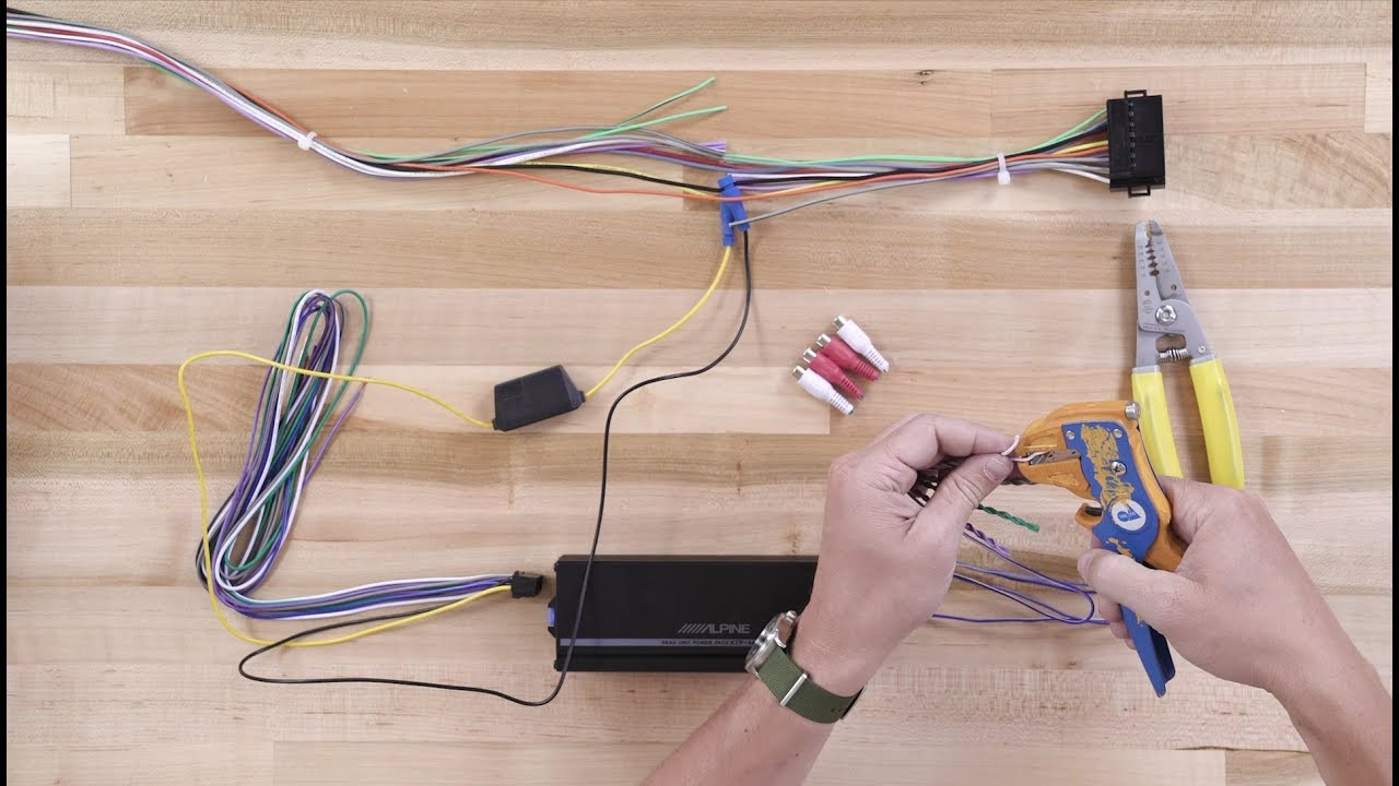 alpine ktp 445u power pack wiring diagram mitsubishi triton stereo how to install the compact amplifier crutchfield video