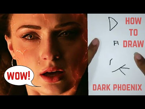 HOW TO DRAW DARK PHOENIX