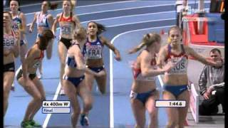 4x400m Relay Women Final European Athletics Championships 2011, Paris