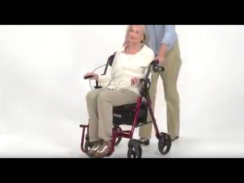 Drive Medical Duet Dual function transport wheelchair walker rollator review