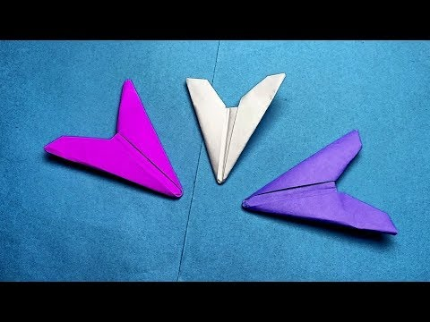 Origami flying ninja weapon arrowhead flicker without tape glue scissors only a square paper