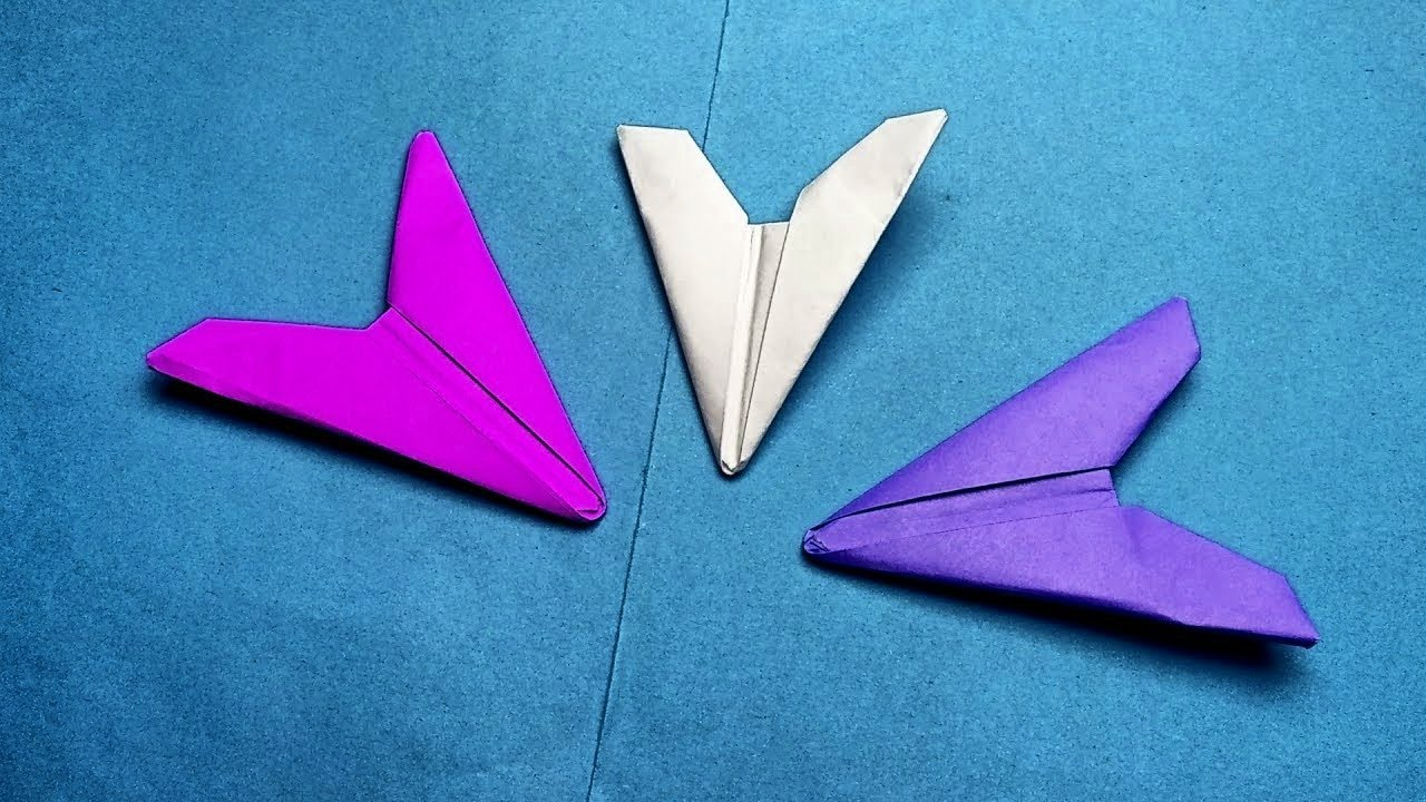 How To Make A Paper Arrowhead Origami Ninja Weapons Easy Flying Flicker No Tape Or Glue