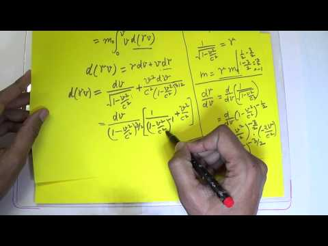 Derivation of Relativistic Kinetic Energy and Total Energy