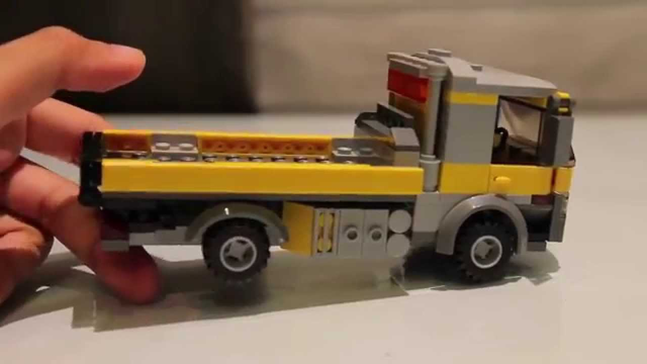 Lego Moc Flatbed Truck Youtube