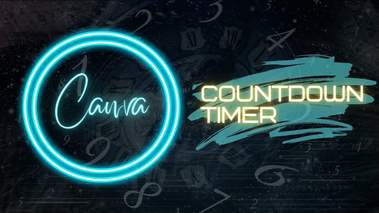 Download How to make a countdown timer from scratch in Canva FREE and PRO
