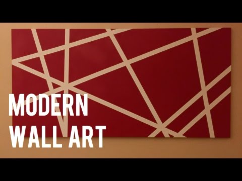 DIY Quick and Easy Modern Wall Art on Canvas