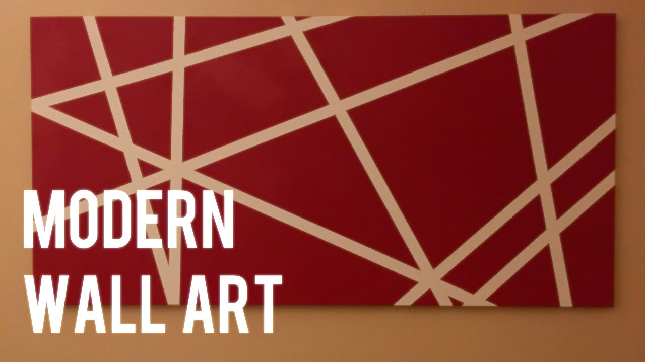 DIY Quick And Easy Modern Wall Art On Canvas   YouTube