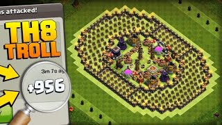 Clash of Clans | PHENOMENAL TH8 TROLL BASE | The Colosseum | +900 CUPS IN 1 DAY!! COC GAMEPLAY 2017