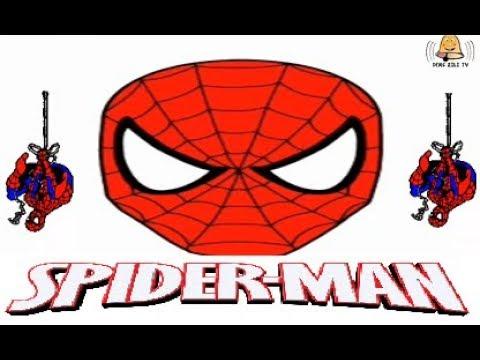 örümcek Adam çizimi Boyaması Ve Kağıttan Maske Yapımı Diy