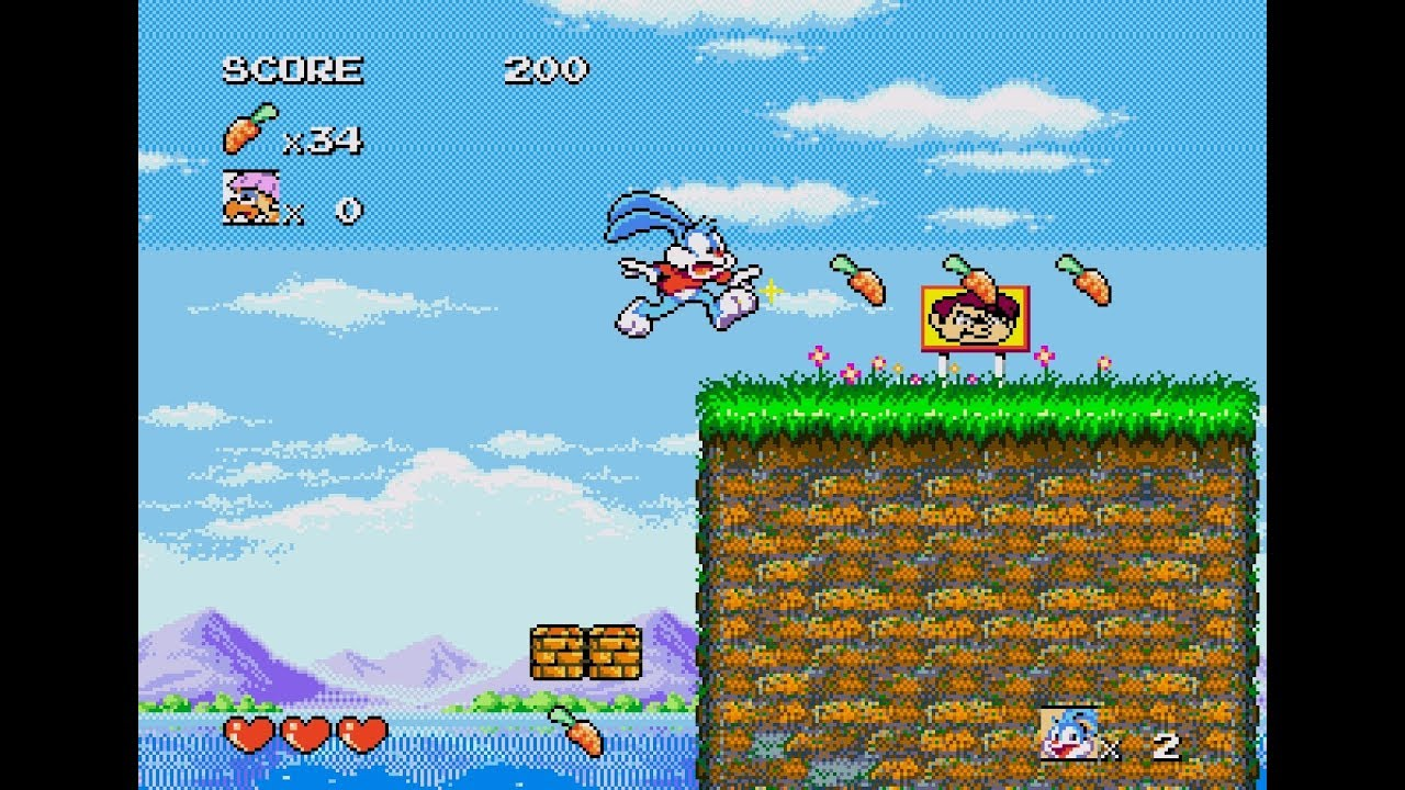 [Análise Retro Game] - TinyToons Adventures Buster's Hidden Treasure - Mega Drive/Genesis Maxresdefault