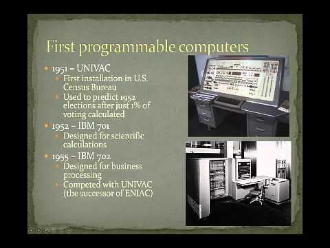Brief history of information systems 1940 - Present