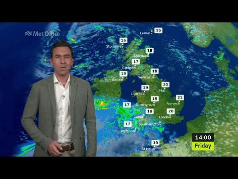 Friday morning forecast 28/07/2017