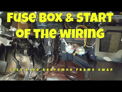 Mounting the fuse box and starting the wiring on my Frod F100 to