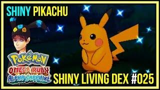 shiny pikachu from dexnav   shiny living dex 025 pokemon omega ruby alpha sapphire