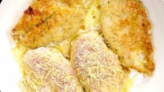 Cooking Recipe 30 : Crispy Parmesan Garlic Chicken with Zucchini