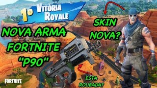 "FIRST VICTORY WITH THE NEW WEAPON ""SMG COMPACT"" P90!!! -SKIN PAINTING WAR-FORTNITE"