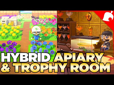 My Rare Flower Apiary & GOLD Trophy Room - Animal Crossing new Horizons 32