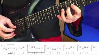 [ガールズ&パンツァー]ChouCho - 眠れる本能 ギターソロTab(Guitar Solo Tab)