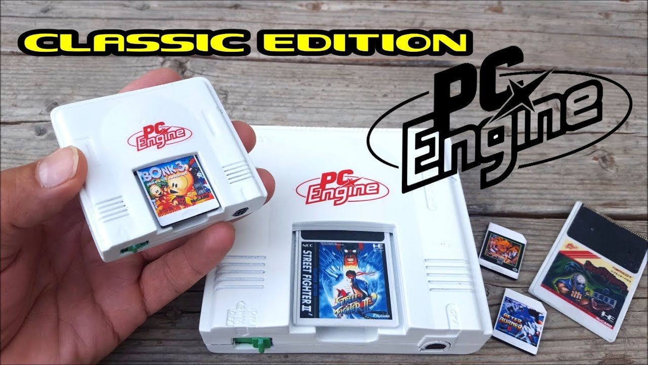 PC Engine Mini Pi 3 Classic Edition's Mini & Full Size PC Engine