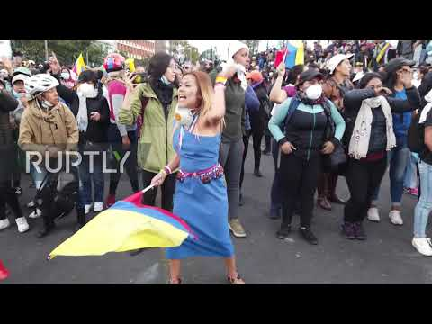 Ecuador: Indigenous groups join thousands protesting Moreno govt in Quito