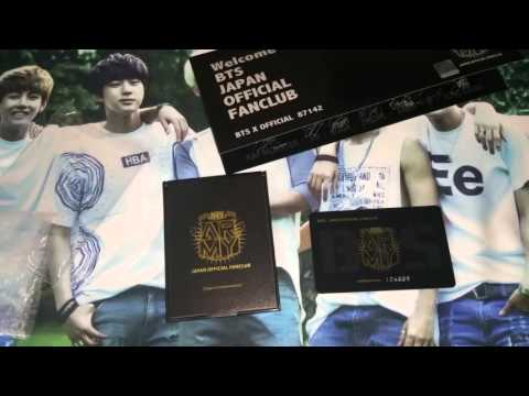 Unboxing Bts Japan Official Fanclub Membership Youtube