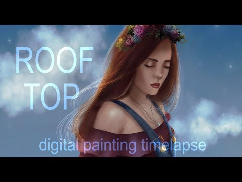 Rooftop | digital painting timelapse