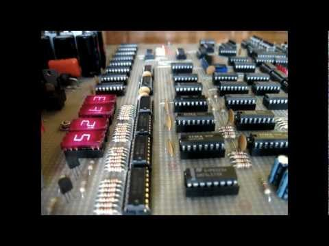 Build your own computer CPU just using Logic & Memory before microprocessors: here