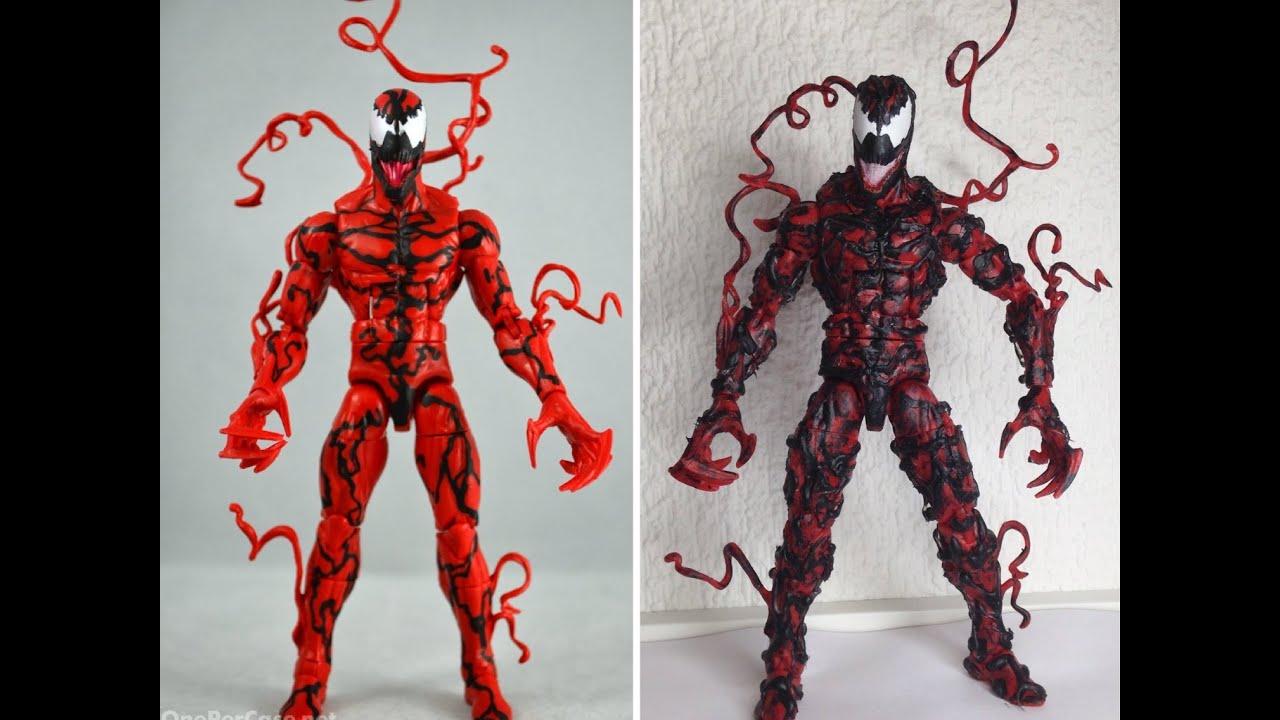 marvel legends custom carnage figure youtube