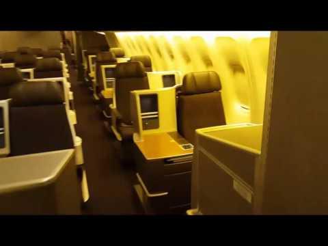 American Airlines Cabin Tour Boeing 767-300ER Refurbished Interior