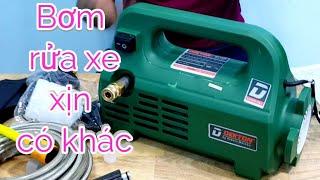 Sức mạnh siêu khủng của máy rửa xe mini Dekton|Máy Xây Dựng Hồng Nhiên