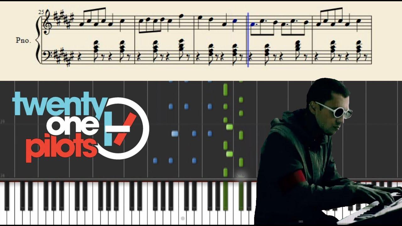 ride twenty one pilots piano sheet music pdf
