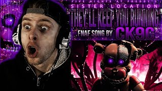 "Vapor Reacts #573 | [FNAF SFM] FNAF SISTER LOCATION SONG ""They'll Keep You Running"" by CK9C REACTION"