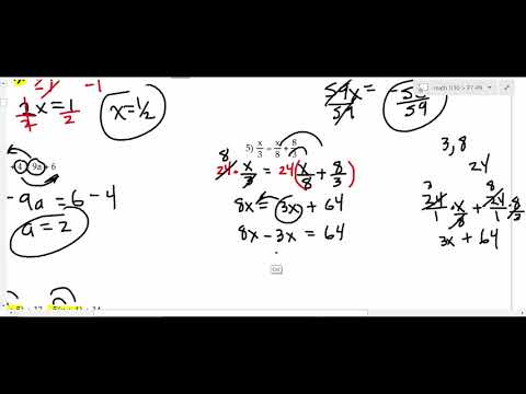 MATH 1130 Pre-Calculus P7 - P9 Part 1