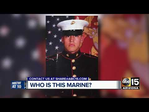 Mystery photo of Marine found in parking lot
