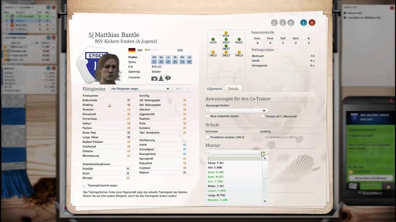 Fussball Manager Lets Play 1 Auf Los Geht S Los Bei Kickers Emden