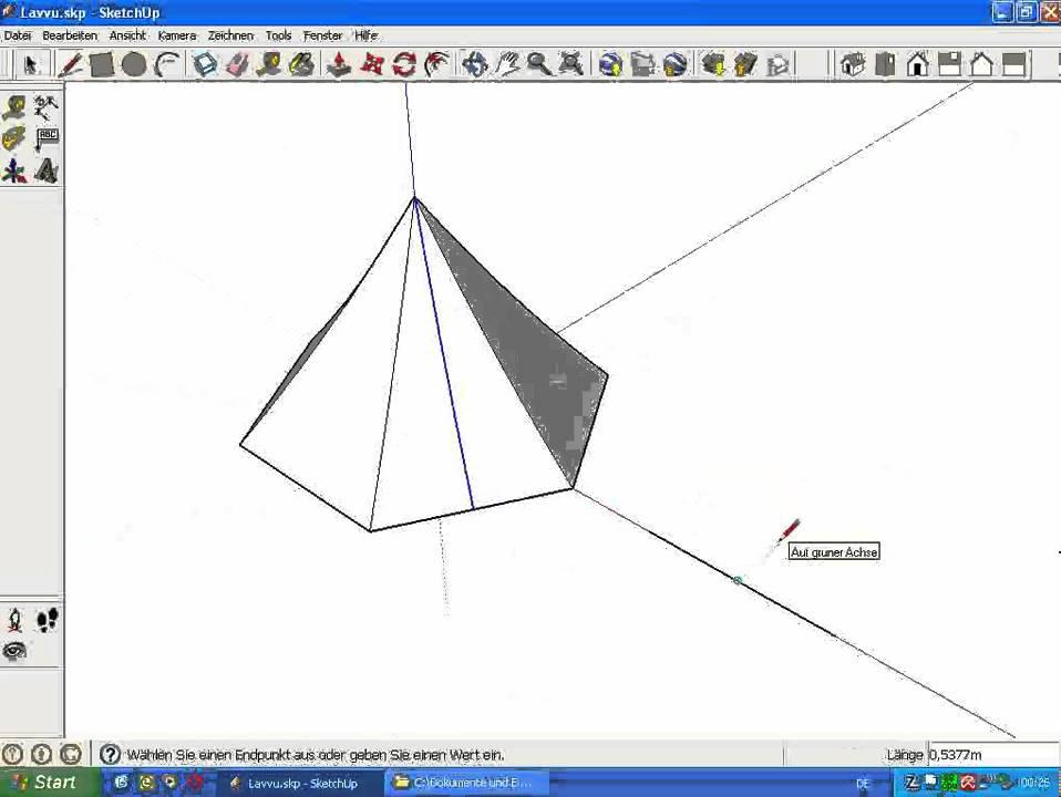 Schnittmuster mit SketchUp erstellen.avi - YouTube