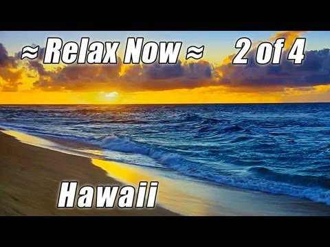 """RELAX. FREE  Iphone App """"HD Hawaii Beaches"""" OAHU on the beach ocean nature sounds waves"""