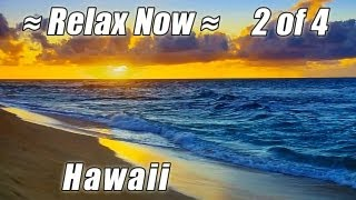 "RELAX. FREE  Iphone App ""HD Hawaii Beaches"" OAHU on the beach ocean nature sounds waves"