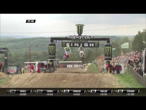 Max Nagl passes Gautier Paulin MXGP of Czech Republic MXGP Race 1 - 2016