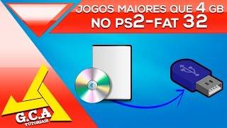 ps2 via pen drive - rodando jogos maiores que 4GB no formato fat32
