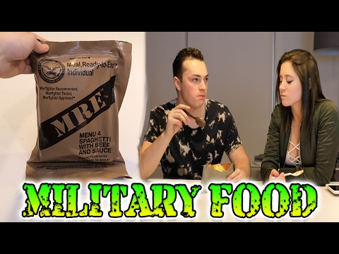 EATING MILITARY FOOD CHALLENGE! MEAL READY TO EAT (MRE)