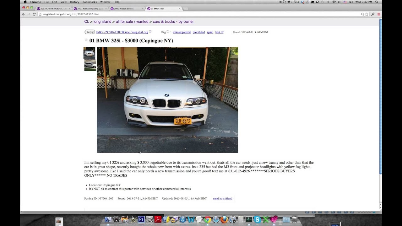 Research: How to Buy a Car on Craigslist Without Getting Scammed