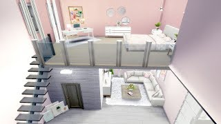 The Sims 4 - Girly Loft   Speed Build   Loft Building