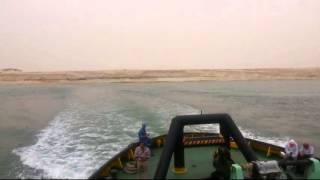 قناة السويس الجديدة منطقة قناة الاتصال بالكيلو متر76 بالقطاع الاوسط