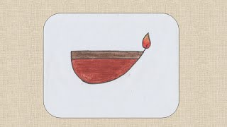 How to draw a Diwali Diya for kids