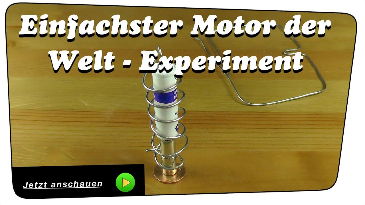 Einfachster Motor der Welt - Homopolar Motor #1 Experiment ...